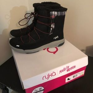 Ryka Alyssa Black Plaid Boots